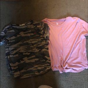Brandy Melville Tops - t shirt, tank, and long sleeve bundle